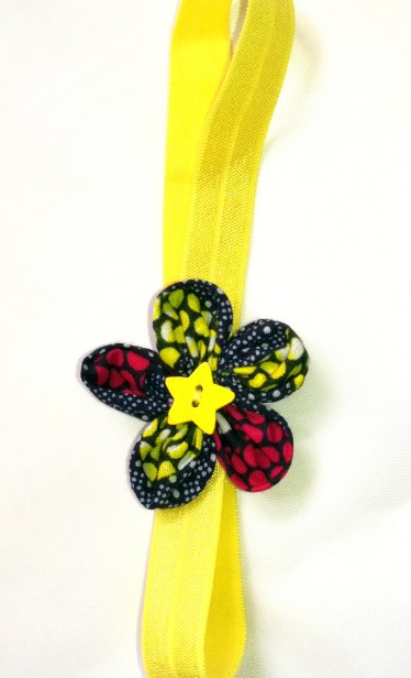 Bandeau wax orchidée jaune