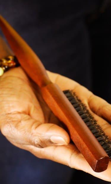 Brosse chichi à poils de sanglier